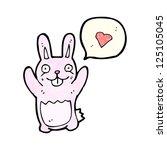 cartoon rabbit with love heart | Shutterstock .eps vector #125105045