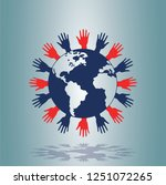 world human rights concept | Shutterstock .eps vector #1251072265