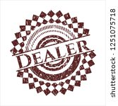 red dealer distressed grunge... | Shutterstock .eps vector #1251075718