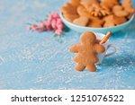 homemade gingerbread cookies  ...   Shutterstock . vector #1251076522