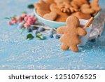 homemade gingerbread cookies  ...   Shutterstock . vector #1251076525