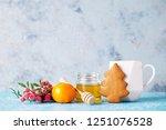 homemade gingerbread cookies  ...   Shutterstock . vector #1251076528