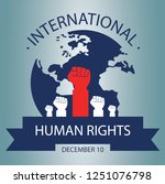human rights day concept | Shutterstock .eps vector #1251076798