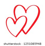 couple red vector valentines... | Shutterstock .eps vector #1251085948