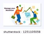 business workflow management... | Shutterstock .eps vector #1251105058