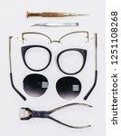 eyeglass frame disassembled for ... | Shutterstock . vector #1251108268
