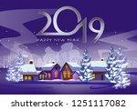 twenty nineteen poster design....   Shutterstock .eps vector #1251117082