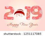twenty nineteen poster design....   Shutterstock .eps vector #1251117085