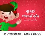 christmas greeting card design. ...   Shutterstock .eps vector #1251118708