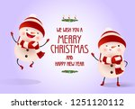 christmas and new year poster... | Shutterstock .eps vector #1251120112