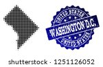 geographic combination of dot... | Shutterstock .eps vector #1251126052
