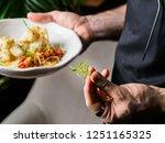 aiter serving roasted... | Shutterstock . vector #1251165325