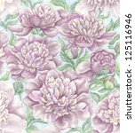 illustration of peonies | Shutterstock . vector #125116946