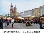 cracow krakow poland   6... | Shutterstock . vector #1251175885