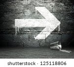 graffiti wall with arrow sign ... | Shutterstock . vector #125118806