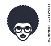 funky woman in glasses with...   Shutterstock .eps vector #1251190855