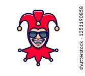 the laughing joker in...   Shutterstock .eps vector #1251190858