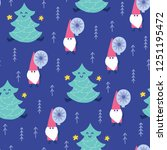 seamless christmas pattern.... | Shutterstock .eps vector #1251195472