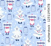 seamless christmas pattern.... | Shutterstock .eps vector #1251195478
