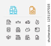 gas icons set. oil warehouse... | Shutterstock .eps vector #1251197035