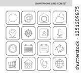 smartphone line icon set   Shutterstock .eps vector #1251209875