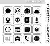 smartphone icon set. contact us ...   Shutterstock .eps vector #1251209878