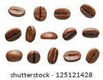 Coffee Beans. Isolated On Whit...