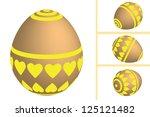 easter eggs set on white... | Shutterstock .eps vector #125121482