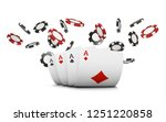 playing cards and poker chips... | Shutterstock . vector #1251220858