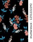 seamless illustration flowers... | Shutterstock . vector #1251222292