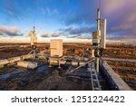 panel antennas of 2g 3g 4g 5g... | Shutterstock . vector #1251224422