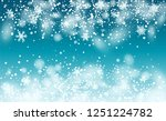 vector snow background. holiday ... | Shutterstock .eps vector #1251224782