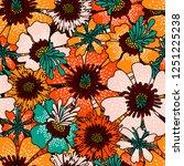 floral seamless pattern.... | Shutterstock .eps vector #1251225238