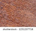 sport shoe footprint on a... | Shutterstock . vector #1251237718