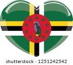 dominica flag  vector  heart... | Shutterstock .eps vector #1251242542