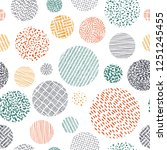 cute seamless pattern in doodle ...   Shutterstock .eps vector #1251245455