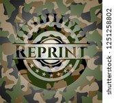 reprint on camo pattern | Shutterstock .eps vector #1251258802