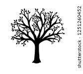 vector tree silhouette | Shutterstock .eps vector #1251260452