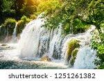 plitvice lakes of croatia  ...   Shutterstock . vector #1251261382