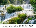 plitvice lakes of croatia  ...   Shutterstock . vector #1251261385
