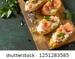 antipasti snacks for wine.... | Shutterstock . vector #1251283585