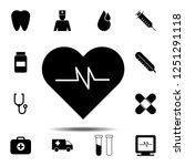 heart pulse icon. simple glyph...   Shutterstock .eps vector #1251291118