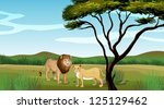 Illustration Of A Lion And A...