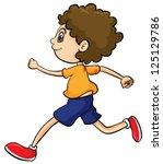 Illustration Of A Boy Running...