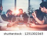 business meeting situation.... | Shutterstock . vector #1251302365