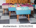 poufs furniture detail | Shutterstock . vector #1251312532