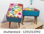 poufs furniture detail | Shutterstock . vector #1251312592