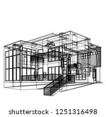housing architectural drawing... | Shutterstock .eps vector #1251316498