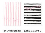 pink glitter sequins with dots. ... | Shutterstock .eps vector #1251321952