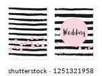 bridal shower card with dots... | Shutterstock .eps vector #1251321958